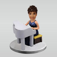 Personalized custom Pianist bobblehead