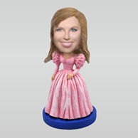 Personalized custom Princess bobbleheads