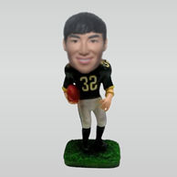 Personalized custom Rugby player bobblehead