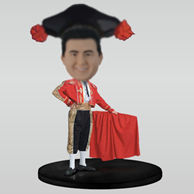 Personalized custom Spanish bullfighting car bobblehead