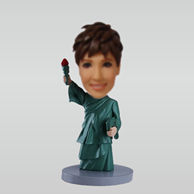 Personalized custom Statue of Liberty bobbleheads