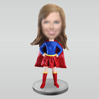 Personalized custom super woman bobbleheads
