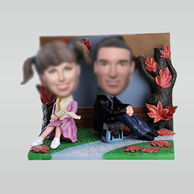 Personalized custom sweet couple bobble heads doll