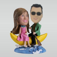 Personalized custom sweet couple bobblehead