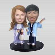 Personalized custom sweet couple bobblehead doll