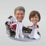Personalized custom sweet wedding bobble heads