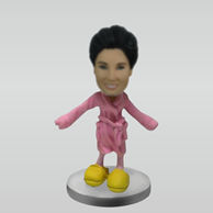Personalized custom woman with Bathrobes bobbleheads