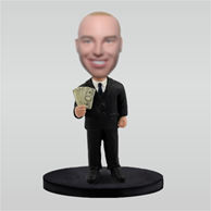 Personalized custom work man bobble head dolls