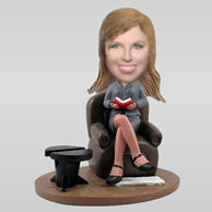 Personalized custom work woman bobble heads