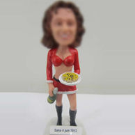 Pizza girl bobble head