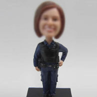 Police bobble head doll