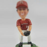 Personalized Baseball Athlete bobble head doll