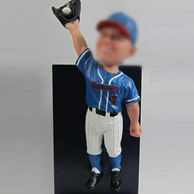 Personalized Baseball Athlete bobble heads