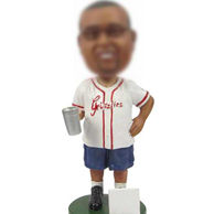 Personalized Baseball athletes bobble head doll
