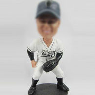 Personalized  Playing Baseball Bobble Head Doll