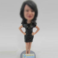 Personalized custom Casual female bobblehead doll