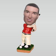 Personalized custom golf bobblehead doll