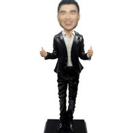 Personalized Custom Man In Suit Bobble Head 12 Inch