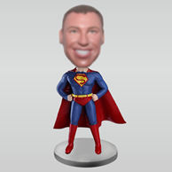 Personalized custom super man bobbleheads
