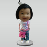 Personalized Customized Cute Girl bobbleheads