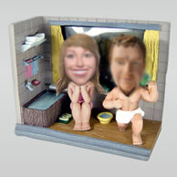 Personalized Personalized custom bath couple bobbleheads
