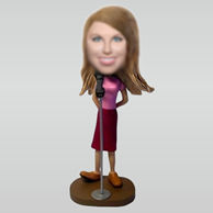 Personalized Personalized custom Singer bobbleheads