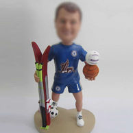 Personalized sports bobble head doll