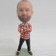 Shirt bobble head doll