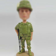Soldier bobble head doll