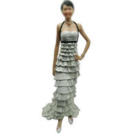 White Dress Girl Bobble 12 Inch