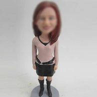 Woman bobblehead
