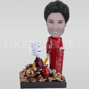 Custom Bobblehead Woman Balancing Budget-11494