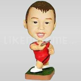 Custom Bobblehead Boy Playing-11622
