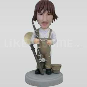 Fisherman with Rod and Net Bobblehead-11784