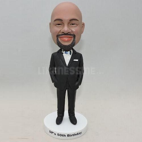 Business Men Bobblehead in Black Suit, buy Business Men Bobblehead ...