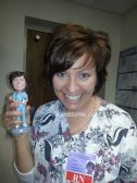 This bobblehead was made from my wife's working photos.