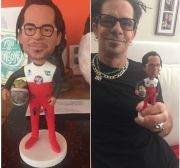 Racing style bobble head of my husband
